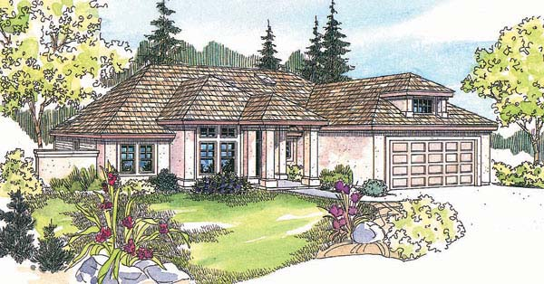 Southwest Traditional House Plan 69351 Elevation
