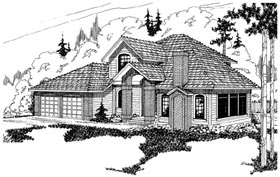 Traditional House Plan 69353 Elevation