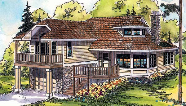 Craftsman Traditional Elevation of Plan 69354