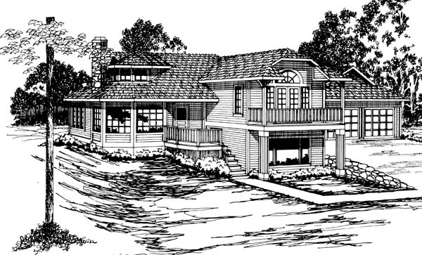Contemporary Southwest House Plan 69358 Elevation