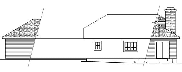 Contemporary Southwest House Plan 69358 Rear Elevation