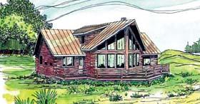 Contemporary Log House Plan 69362 Elevation
