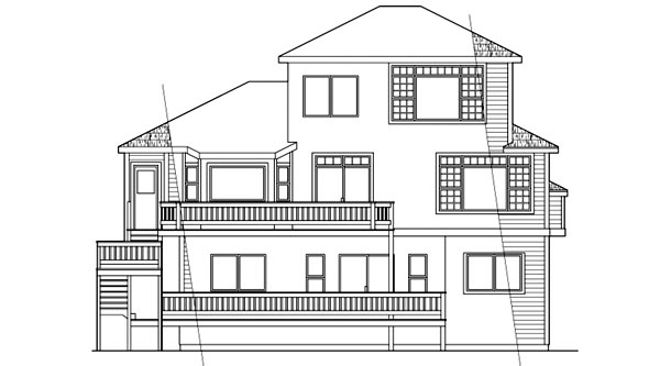 Traditional House Plan 69363 Rear Elevation