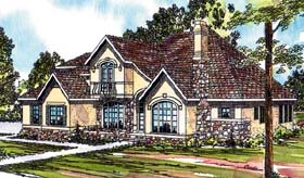 House Plan 69364 | European Style Plan with 3120 Sq Ft, 4 Bedrooms, 3.5 Bathrooms, 2 Car Garage Elevation