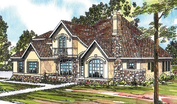 European House Plan 69364 Elevation