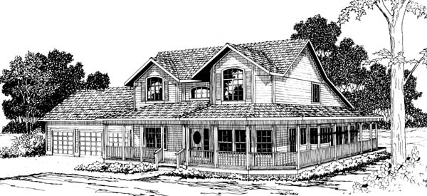 Country Farmhouse House Plan 69366 Elevation