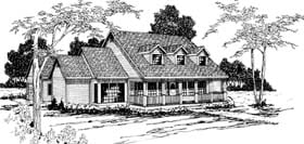 Country House Plan 69367 Elevation