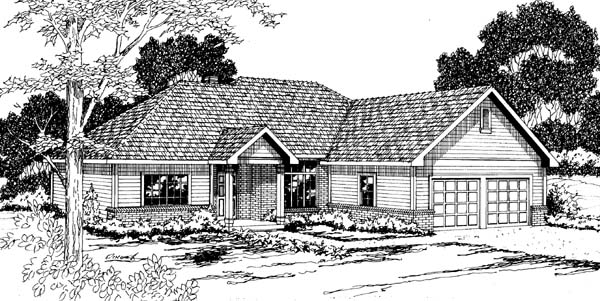 Traditional House Plan 69368 Elevation