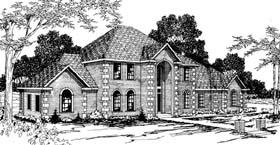 European House Plan 69369 Elevation
