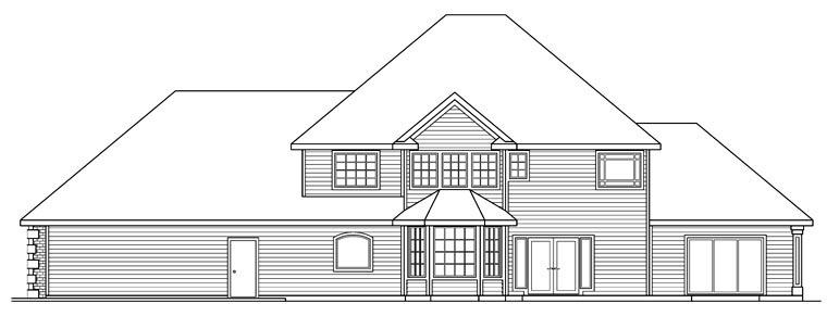 European House Plan 69369 Rear Elevation