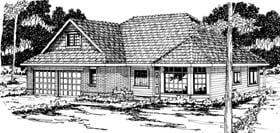 Traditional House Plan 69374 Elevation