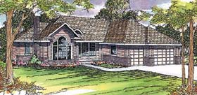House Plan 69375 | Traditional Style Plan with 2505 Sq Ft, 3 Bedrooms, 2.5 Bathrooms, 3 Car Garage Elevation