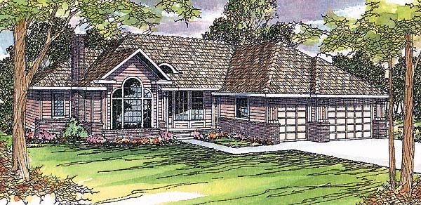 Traditional House Plan 69375 Elevation