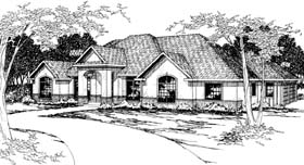 House Plan 69376 | Traditional Style Plan with 3032 Sq Ft, 4 Bedrooms, 3 Bathrooms, 3 Car Garage Elevation