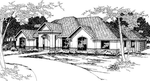 Traditional House Plan 69376 Elevation