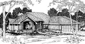 Traditional House Plan 69377 Elevation