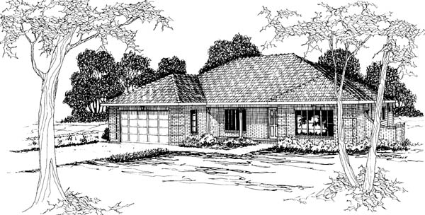 Traditional House Plan 69379 Elevation