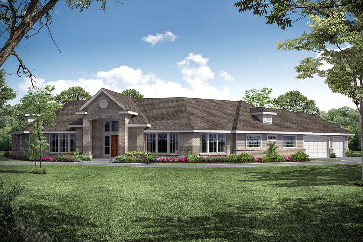 Traditional House Plan 69380 Elevation
