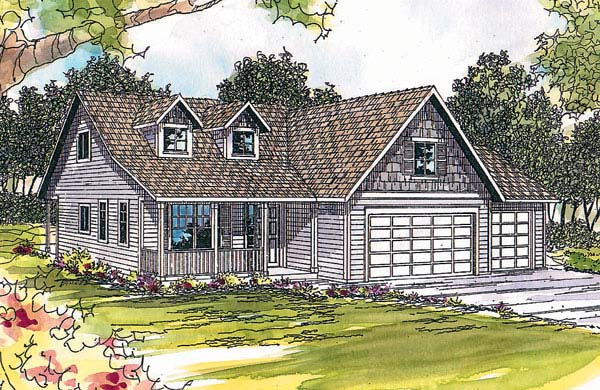 Cape Cod Country House Plan 69381 Elevation