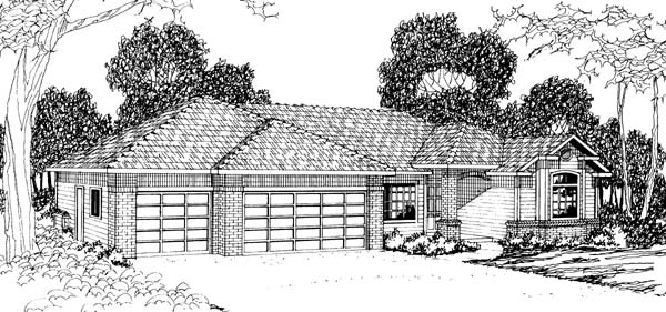 Traditional House Plan 69382 Elevation