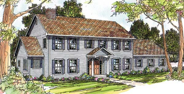 Traditional House Plan 69386 Elevation