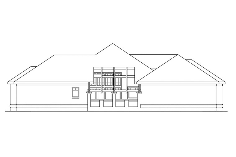 Southwest House Plan 69388 with 3 Beds, 2.5 Baths, 3 Car Garage Picture 2