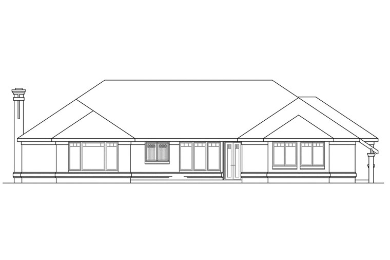 Southwest House Plan 69388 Rear Elevation