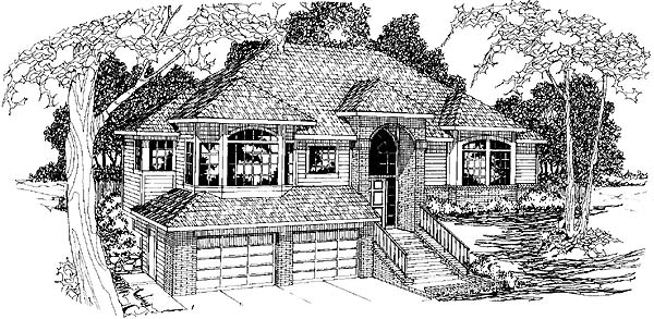 Contemporary Traditional House Plan 69389 Elevation