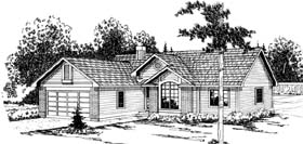 Ranch House Plan 69390 Elevation