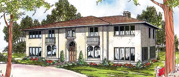 Southwest House Plan 69391 with 6 Beds, 3.5 Baths, 2 Car Garage Elevation