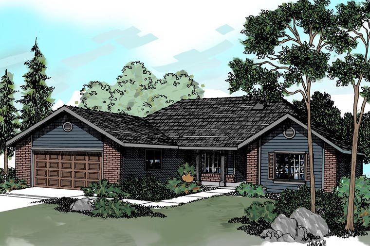 Traditional House Plan 69394 Elevation