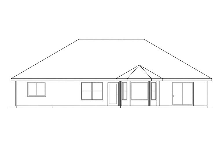 Traditional House Plan 69394 Rear Elevation