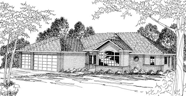 Traditional House Plan 69395 Elevation
