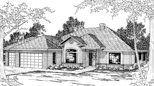 Traditional House Plan 69396 Elevation