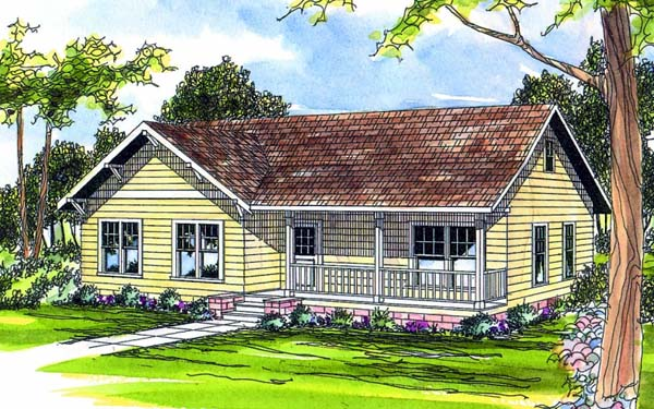 One-Story Ranch Elevation of Plan 69399