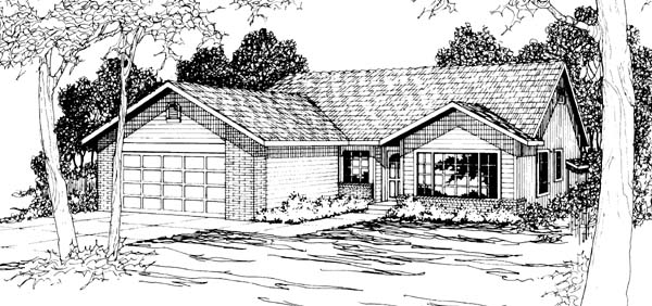 Ranch House Plan 69400 Elevation