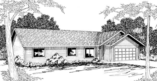 Ranch House Plan 69401 Elevation