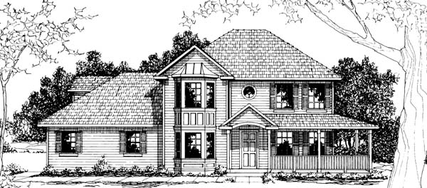 Contemporary Country Farmhouse House Plan 69406 Elevation