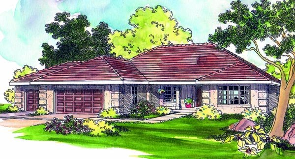 Southwest House Plan 69407 Elevation