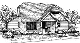 House Plan 69409 | Bungalow Craftsman Style Plan with 1411 Sq Ft, 3 Bedrooms, 2.5 Bathrooms, 2 Car Garage Elevation