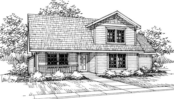 Country House Plan 69410 with 3 Beds, 2 Baths, 2 Car Garage Elevation