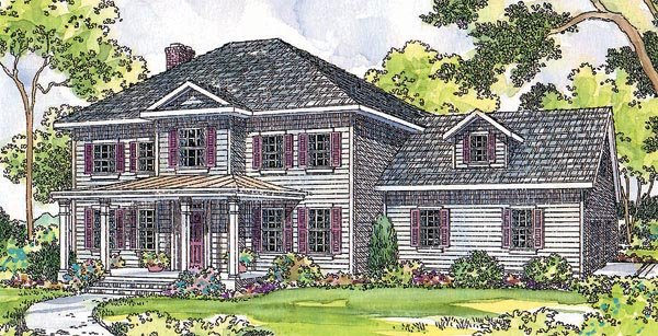 Colonial House Plan 69412 Elevation