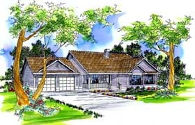Ranch House Plan 69415 Elevation