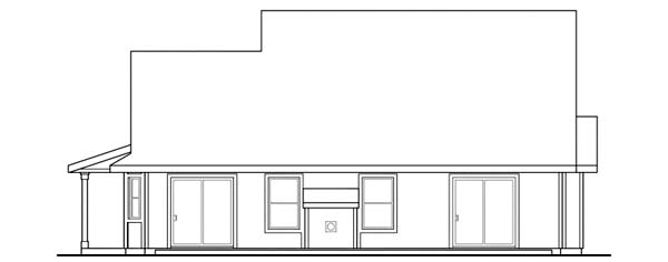 Country House Plan 69416 Rear Elevation