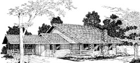Log House Plan 69418 Elevation