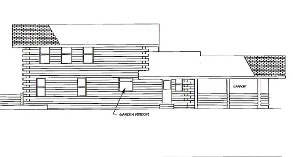 Log House Plan 69418 Rear Elevation