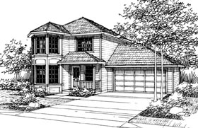 Country House Plan 69420 with 3 Beds, 2.5 Baths, 2 Car Garage Elevation