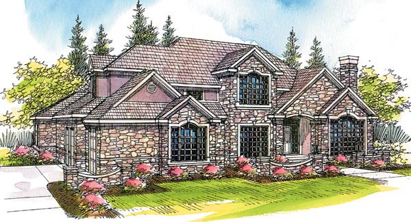European Mediterranean Traditional House Plan 69422 Elevation