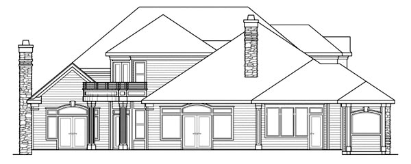 European Mediterranean Traditional House Plan 69422 Rear Elevation