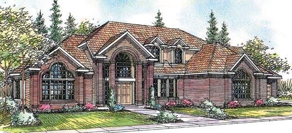 Contemporary European House Plan 69423 Elevation